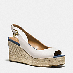 HADLEY WEDGE - CHALK/MEDIUM WASH - COACH Q9060