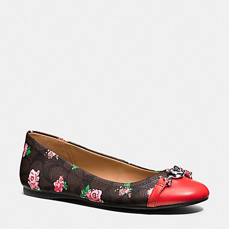 COACH LEILA FLAT - PINK/BRIGHT RED - q9085
