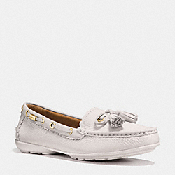 COACH COACH TASSEL LOAFER - CHALK - Q9098