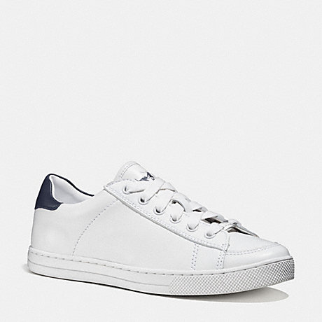 COACH PORTER LO TOP SNEAKER - WHITE/MIDNIGHT NAVY - q9101