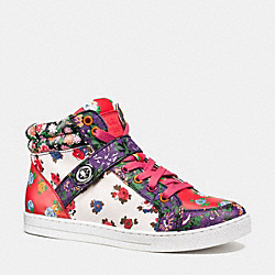 COACH PEMBROKE SNEAKER - RED BLUE MULTI/RED - Q9105