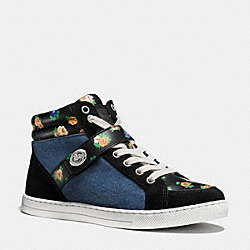 COACH PEMBROKE SNEAKER - BLACK/MEDIUM WASH - Q9116