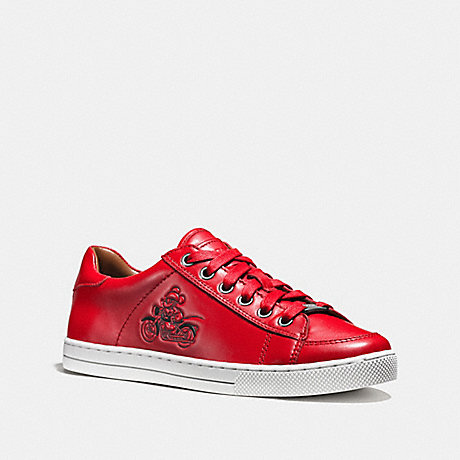COACH q9146 PORTER LACE UP BRIGHT RED