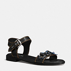 ABBY SANDAL - BLACK - COACH Q9147
