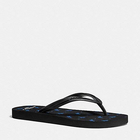 COACH CLEO FLIP FLOP - BLACK LAPIS - q9149