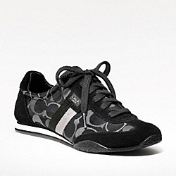 COACH KINSLEY SNEAKER - BLACK GREY MTI/BLACK - Q986