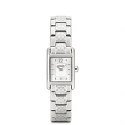 CARLISLE SMALL STAINLESS STEEL BRACELET WATCH COACH W1010