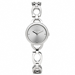 COACH STAINLESS STEEL BRACELET WATCH - ONE COLOR - W1015