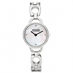 COACH NEW JEWELRY CRYSTAL STAINLESS STEEL BRACELET - ONE COLOR - W1019