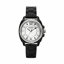 BOYFRIEND CRYSTAL STAINLESS STEEL RUBBER STRAP COACH W1024