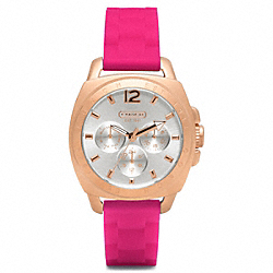 COACH BOYFRIEND ROSEGOLD RUBBER STRAP - ONE COLOR - W1039