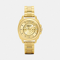MINI BOYFRIEND GOLD PLATED BRACELET WATCH - GOLD PLATED - COACH W1043