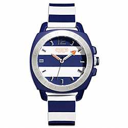 COACH BOYFRIEND RUBBER STRIPE STRAP - ONE COLOR - W1052