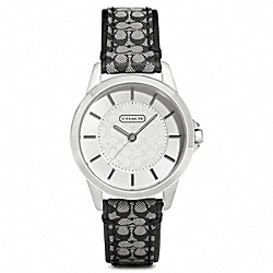 COACH COACH CLASSIC SIGNATURE STRAP WATCH - ONE COLOR - W1058