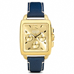 BOYFRIEND SQUARE GOLD PLATED STRAP COACH W1060