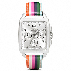 COACH BOYFRIEND SQUARE LEGACY STAINLESS STEEL STRAP - ONE COLOR - W1061
