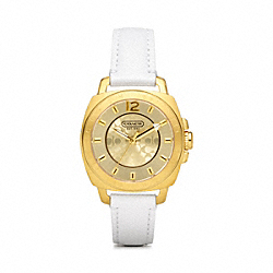 MINI BOYFRIEND GOLD PLATED STRAP WATCH COACH W1072