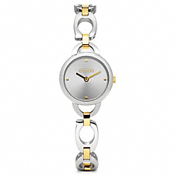 COACH KRISTIN TWO-TONE BRACELET WATCH - ONE COLOR - W1083