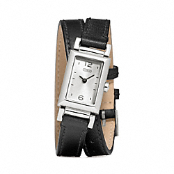 MADISON STAINLESS STEEL WRAP STRAP WATCH - BLACK - COACH W1092