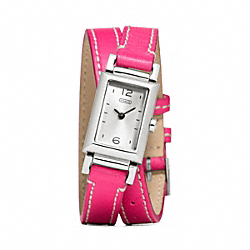 COACH MADISON STAINLESS STEEL WRAP STRAP WATCH - ONE COLOR - W1092