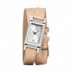 MADISON STAINLESS STEEL WRAP STRAP WATCH - VACHETTA - COACH W1092