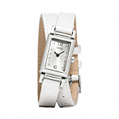 Madison Stainless Steel Double Wrap Watch