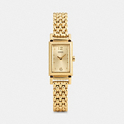 COACH MADISON GOLD PLATED BRACELET WATCH - ONE COLOR - W1095