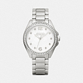 TRISTEN STAINLESS STEEL CRYSTAL BRACELET WATCH