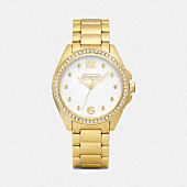 TRISTEN GOLD-PLATED CRYSTAL BRACELET WATCH