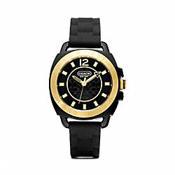 COACH BOYFRIEND RUBBER GOLD PLATED STRAP - ONE COLOR - W1120