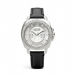 MINI BOYFRIEND STAINLESS STEEL CRYSTAL STRAP WATCH COACH W1130