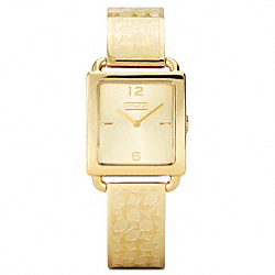 COACH LEGACY GOLD PLATED BANGLE WATCH - ONE COLOR - W1148