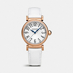 MADISON ROSEGOLD STRAP BRACELET WATCH - WHITE - COACH W1162