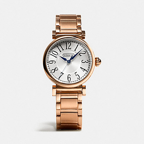 COACH MADISON ROSE GOLD PLATED BRACELET WATCH -  ROSEGOLD - w1165