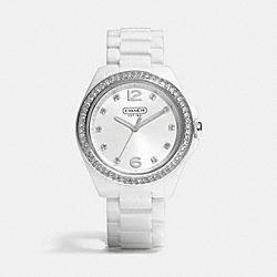 TRISTEN CERAMIC BRACELET WATCH - WHITE - COACH W1181