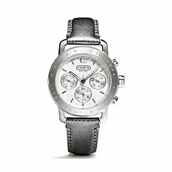 COACH LEGACY SPORT STAINLESS STEEL STRAP - SILVER - W1189