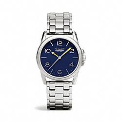 COACH SYDNEY STAINLESS STEEL BRACELET WATCH - NAVY - W1190