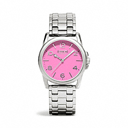 COACH SYDNEY STAINLESS STEEL BRACELET WATCH - PINK - W1190