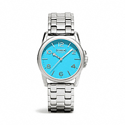 COACH SYDNEY STAINLESS STEEL BRACELET WATCH - TURQUOISE - W1190