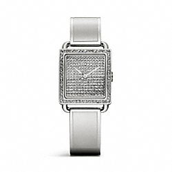 STAINLESS STEEL PAVE BANGLE WATCH COACH W1193