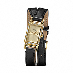 COACH MADISON DOUBLE WRAP STRAP WATCH - ONE COLOR - W1200