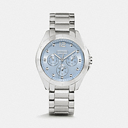 TRISTEN STAINLESS STEEL COLOR DIAL BRACELET - LIGHT BLUE - COACH W1206