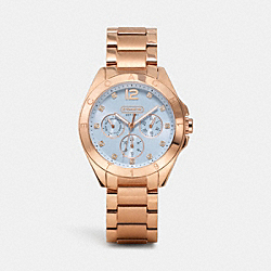 COACH TRISTEN ROSE GOLD COLOR DIAL BRACELET - BLUE - W1208