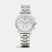 LEGACY SPORT STAINLESS STEEL CRYSTAL BRACELET WATCH