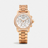 LEGACY SPORT ROSE GOLD CRYSTAL BRACELET WATCH