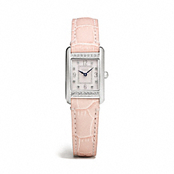 COACH LEXINGTON STAINLESS STEEL STRAP WATCH - PINK - W1229