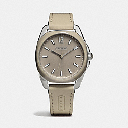 TEAGAN STAINLESS STEEL AND SILICON RUBBER STRAP WATCH - KHAKI - COACH W1244