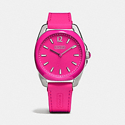 TEAGAN STAINLESS STEEL AND SILICON RUBBER STRAP WATCH - w1244 -  PINK