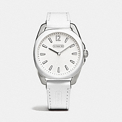 COACH TEAGAN STAINLESS STEEL AND SILICON RUBBER STRAP WATCH - WHITE - W1244