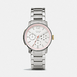 COACH KASEY CHRONOGRAPH STAINLESS STEEL BRACELET WATCH - PINK - W1245